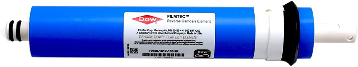 Dow FilmTec TW30-1812-100HR 100 GPD High Rejection TFC Replacement Membrane for Undersink Reverse Osmosis (RO) System (New Model Replaces TW30-1812-100)