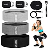 Kootek Booty Band Resistance Loop Bands for Leg and Butt 3 Levels Elasticity Bands with Door Anchor...