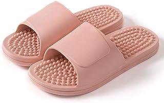 ZZLHHD Chanclas de Playa para niño niña,Acupoint Pedicure Massage Slippers, Anti-Skating Bathroom Slippers,-Powder_38-39,Z...