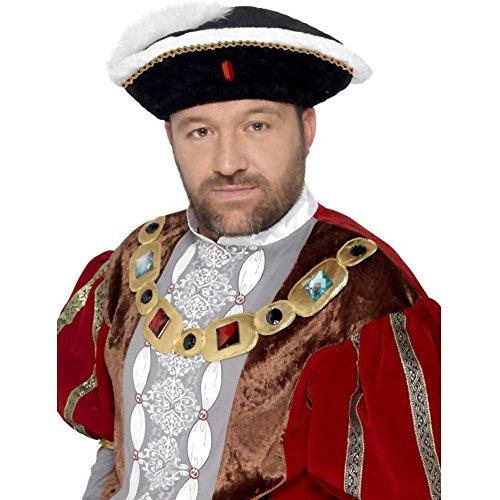 Smiffys Chapeau de Henri VIII, Noir
