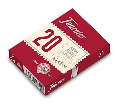 Fournier - Baraja poker español Nº 20, 55 cartas, surtido de colores...