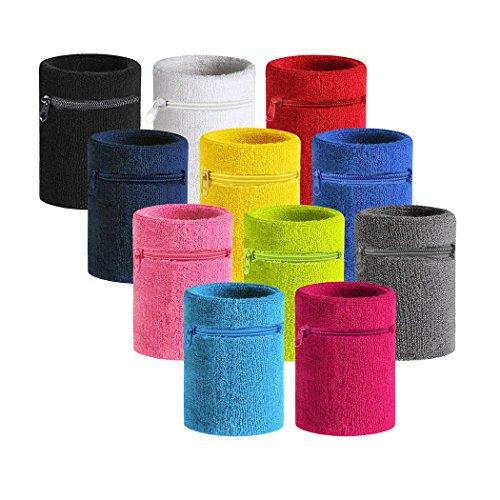 HOTER Sports Thick Solid Color Armband mit Reißverschluss/Handgelenk Portemonnaie, Preis/Stück