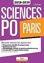 Sciences Po Paris Concours 2018-2019 - Réussir toutes les épreuves de Laurent Berthet