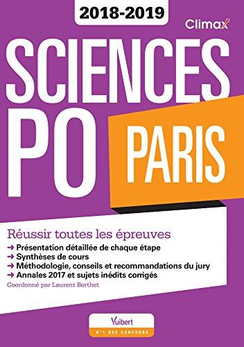 Sciences Po Paris Concours 2018-2019