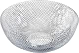 Nifty Solutions 7520CHM Double Wall Mesh Chrome Decorative and Fruit Bowl, Small