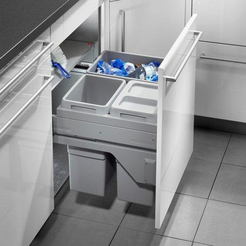 Hailo Euro Cargo S Küchen-Abfalleimer, Plastik, Grau, One Size