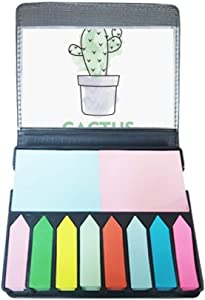 Cactus Succulents Potted Plant Watercolor Self Stick Note Color Page Marker Box