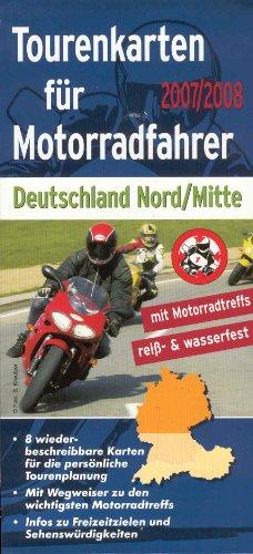 Tourenkarten für Motorradfahrer 2007/2008 - Deutschland Nord/Mitte - 8 Karten im Set