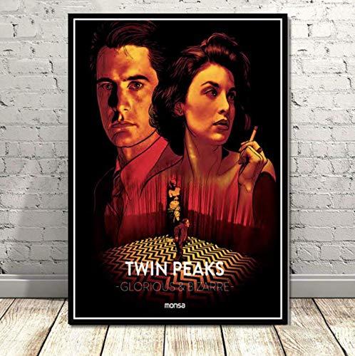 Wc-asdcc Leinwand Malerei Poster und Drucke Twin Peaks TV-Serie zeigt Classic Movie Anime Art Wandbilder Home Decor 50x70cm CDG142