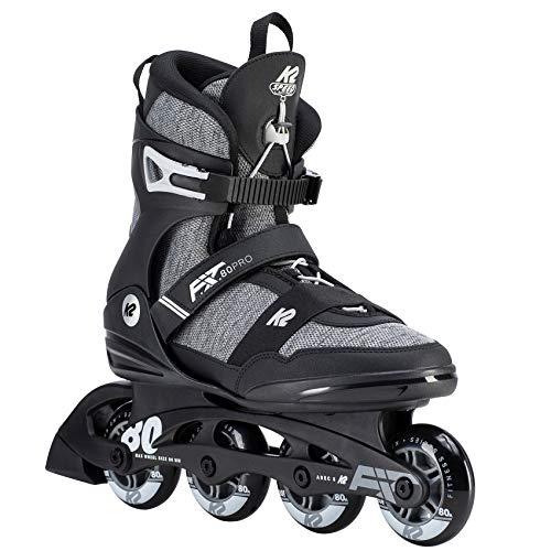 K2 Herren Inline Skates F.I.T. 80 PRO - Schwarz-Grau - EU: 44.5 (US: 11 - UK: 10) - 30D0771.1.1.110