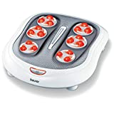 Beurer FM60 Shiatsu Foot Massager, 8 Shiatsu Massage Heads and 2 Massage Levels, Transparent