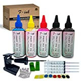 F-ink 5 Bottles Ink and Ink Refill Kits Compatible with Hp Inkjet Ink Cartridges 662XL 664XL 60XL 61XL 62XL 63XL 64XL 65XL 92XL 94XL 901XL-Ink Tools for Reuse The Cartridge