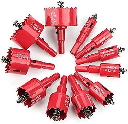 ZHFF M42 HSS Bi-Metal Hole Saw,15-200mm M42 HSS Hole Saw Cutter Drill Bit Metal Tip Drill, Hole Opener Drill Bit Cutter Tool,for Wood Aluminum Iron Sheet Pipe Plastic