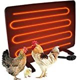 Cozy Chicken Coop Heaters with Thermostat, Safe Pet Heaters for Inside Outdoor (140 Watts)