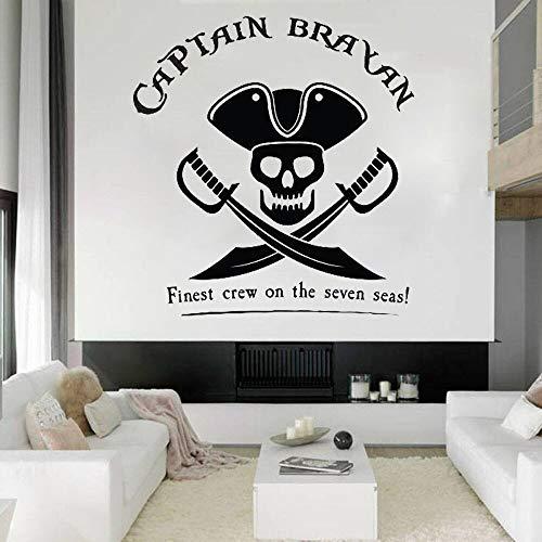 Pegatinas de pared pirata decoración de habitación decoración del hogar pegatinas de pared artística decoración de dormitorio adolescentes niños niñas habitación de dibujos animados