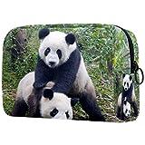 Bolsa de Maquillaje para niños Juego de Animales Panda Accesorio de Viaje Neceser Pequeño Bolsas de Aseo Suave al Tacto Cosmético Organizadores de Viaje 18.5x7.5x13cm