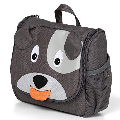 Affenzahn Kulturtasche Hund für 1-3 Jährige Kinder im Kindergarten - Grau