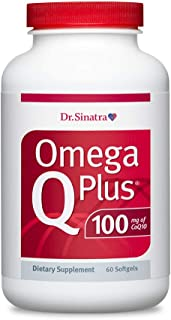 Dr. Sinatra's Omega Q Plus 100 – Omega-3 Supplement Delivers Everyday Heart Health Support with 100 mg of CoQ10 for Health...