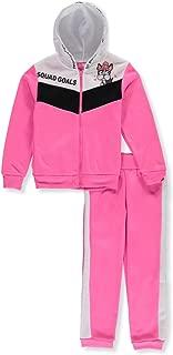 Girls Luv Pink Girls Leopard Daddys Girl 2-Piece Sweatsuit Pants Set