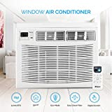 Della 12000 BTU Window Air Conditioner 1250W, 110V/60Hz, 12.1 (EER) Energy Star Efficient Cooling Rooms up to 550 Sq. Ft. with 60 Pint/24hrs Dehumification Digital Display with Remote
