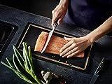 Wüsthof Santokumesser, 14 cm Klinge mit Kullen, Epicure Slate 1011131314, rostfrei, ergonomischer Griff, extrem scharfes Küchenmesser - 4