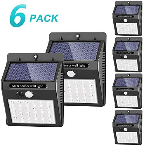 [42 LED / 3 Modos ] SEZAC Luces solares Luces con sensor...