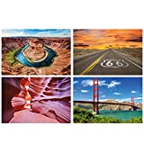 GREAT ART® 4er Set XXL Poster Motive – Nordamerika –