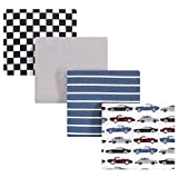 Hudson Baby Unisex Baby Cotton Flannel Receiving Blankets, Vintage Cars, One Size