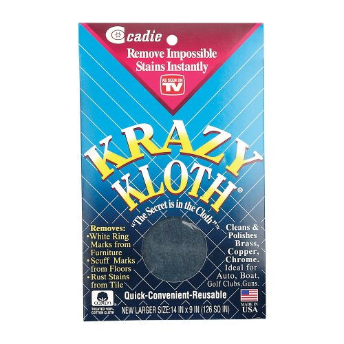 Cadie Krazy Kloth As Seen on TV - All Around Home Cleaning Cloth Infused with Super Activated Formula to Cleans, Polishes, Protects and Removes Stubborn Stains Instantly   Large Size, (1 Pack)