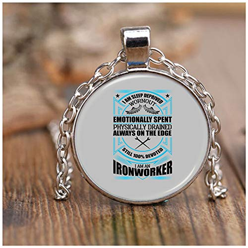 OMANECK Awesome Ironworker Necklaces, I Am an Ironworker Necklace Nickel (Necklace - Nickel - Sport Gray)