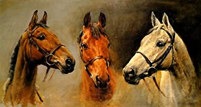 WONDERFULITEMS Horse Portrait WE Three Kings by Susan Crawford ON Canvas REPRO