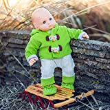 15' Doll Clothes Compatible with American Girl's Bitty Baby & Twins, Green & Cream Overalls,Shirt,Jacket & Shoes