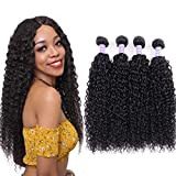 Donmily 10A Brazilian Virgin Curly Hair 3 Bundles Weave 100% Unprocessed Brazilian Sexy Human Hair Extensions Natural Color 12 14 16inch …