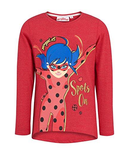 Miraculous 2374 Camiseta, Rojo Rouge, 5 años para Niñas