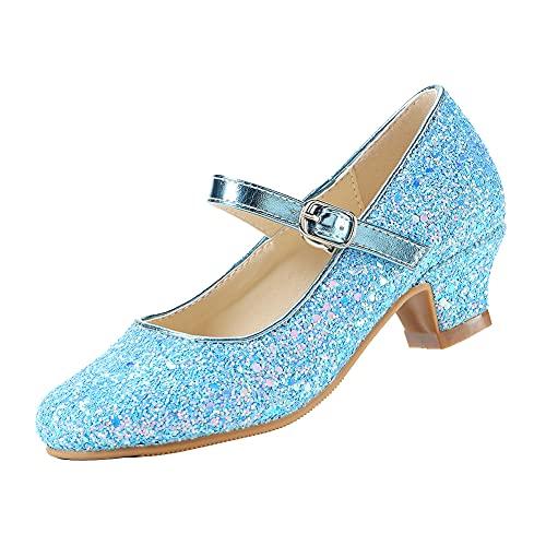 EIGHT KM Niñas Tacones Bajos Mary Jane Vestido Formal Bombas Zapatos EKM7015...