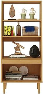 Jcnfa-Estante Librero Hecho De Madera Estante De Libro Estante De Soporte Organizador De Estantes para CDs, Discos Estantes Cuadrados De Bricolaje (Color : Madera, Tamaño : 24.56 * 11.81 * 54.80in)