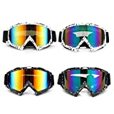 Viviance Anti-UV Polvo Gafas De Nieve Gafas para Motocicleta Motocross Moto De Esquí De Carreras - Negro + Oro