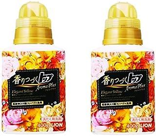 【まとめ買い】香りつづくトップ アロマプラス 洗濯洗剤 液体 エレガントイエロー 本体 400g × 2個