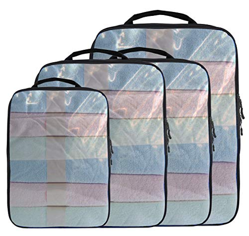 Magictodoor Dual Sided Compression Packing Cubes Separate Dirty...