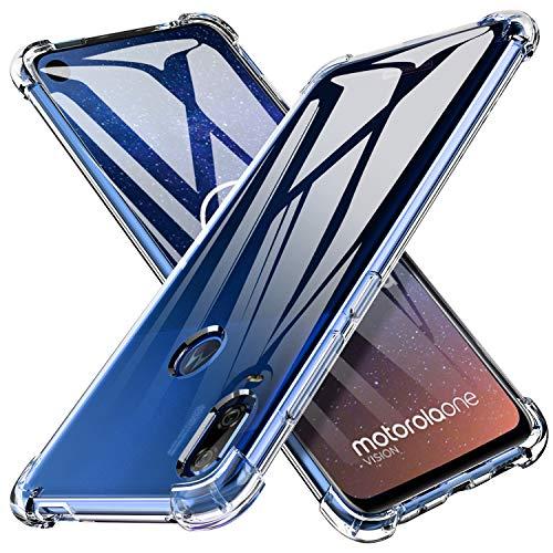 iBetter für Motorola One Vision Hülle, für Moto p40 Hülle, Soft TPU Ultradünn Cover [Slim-Fit] [Anti-Scratch] [Shock Absorption] passt für Motorola One Vision/Moto p40 Smartphone