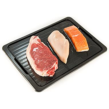Defrosting Tray With Drip Plate - Rapid, Easy And Safe Meat Thawing Tray - Without Using Electricity Or Microwave - No Dripping