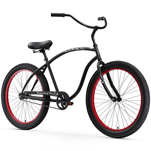 Best Buy! Firmstrong Chief 3.0 Man Single Speed Beach Cruiser Bicycle, 26-Inch/XX-Large, Matte Black