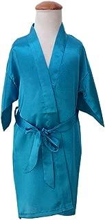Bath Robe,Fashion Girl Solid Color Satin Kimono Nightgown Bath Robe Sleepwear Pajamas
