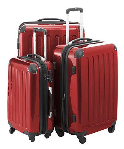 Hauptstandtkoffer Set di valigie, 75 cm, 235 L, Rosso