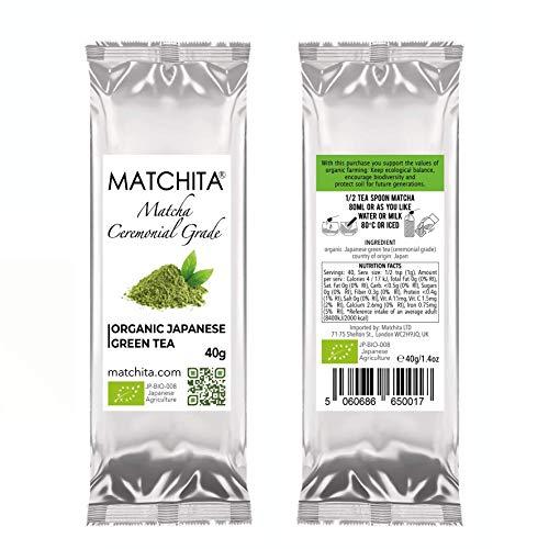 MATCHITA - Tè Matcha Organico Sacchetto di Ricarica   100% EU-BIO   Tè Verde Giapponese di Grado...