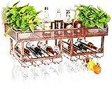 Clásico Organización de almacenamiento montado en la pared de la cocina Bastidores de vino |La pared del metal de la vendimia Vino Titular titular de la botella |Bastidores cáliz decoración de la barr