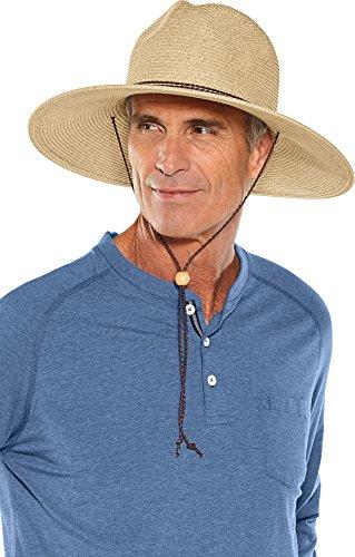 Coolibar UPF 50+ Men's Beach Comber Sun Hat – Sun Protective (Large/X-Large- Natural)