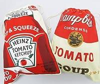 【キャンベル & ハインツ】アメリカンテイストな巾着 きんちゃく 2枚セット アメリカ雑貨アメリカン雑貨