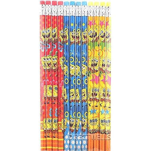 Spongebob Squarepants Authentic Licensed 12 Wood Pencils Pack