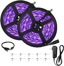 UV Black Light Strip, 33ft/10m UV Light Strip with 600 Units Lamp Beads, 12V Flexible Led Blacklight Strip, Non-Waterproof...
